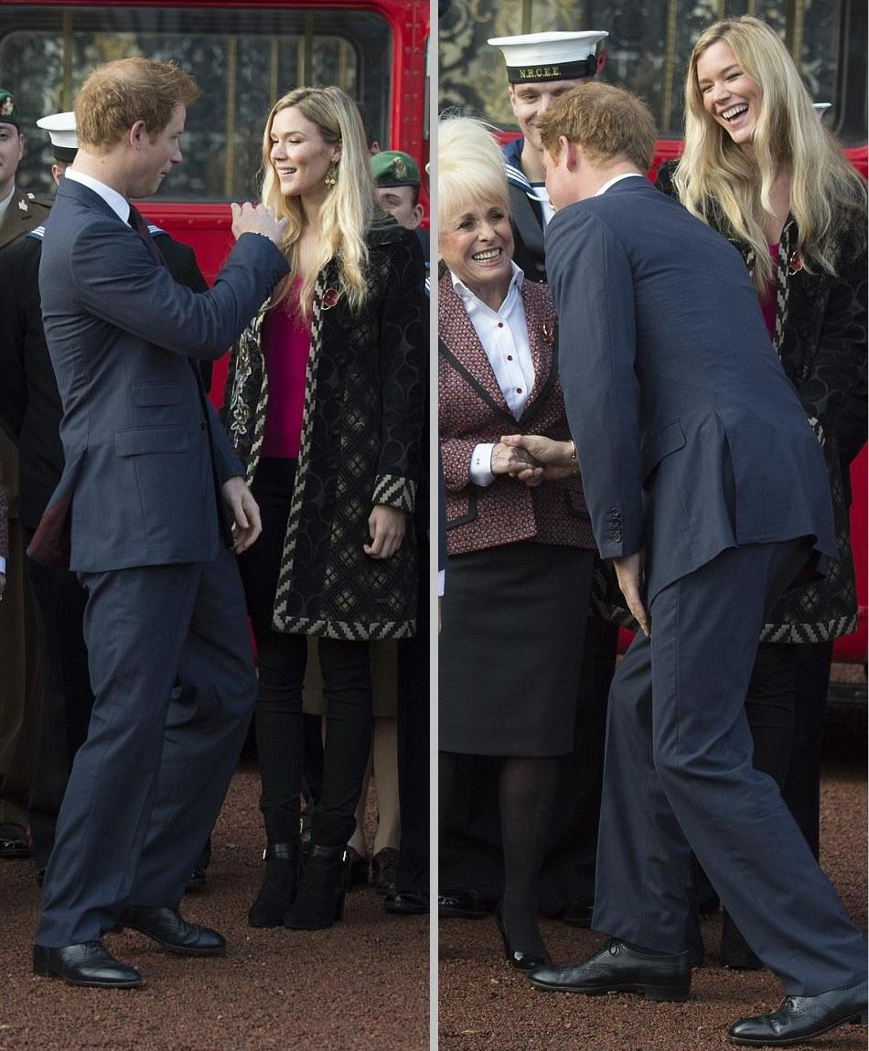 Prince Harry At Buckingham Palace Greeting The Collectors