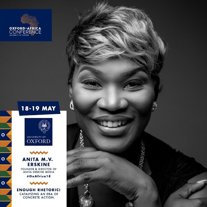 Anita Erskine to speak at the 2018 Oxford Africa Conference on 18 and 19 May