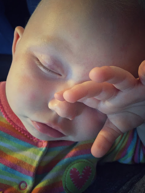 A baby asleep