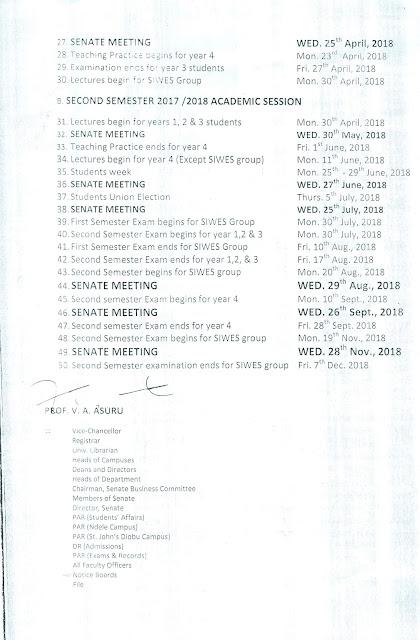 IAUE Academic Calendar Schedule - page 2