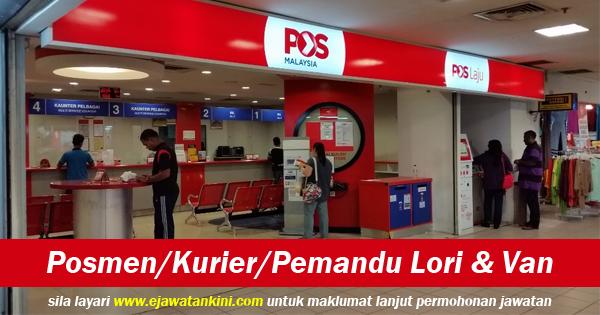 jawatan kosong 2019 pos malaysia