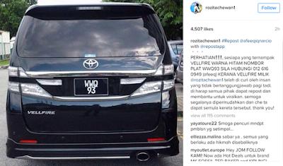 Ekoran Kereta Che Ta Hilang Dicuri, Polis Dedah KEJADIAN SEBENAR Yang Berlaku!