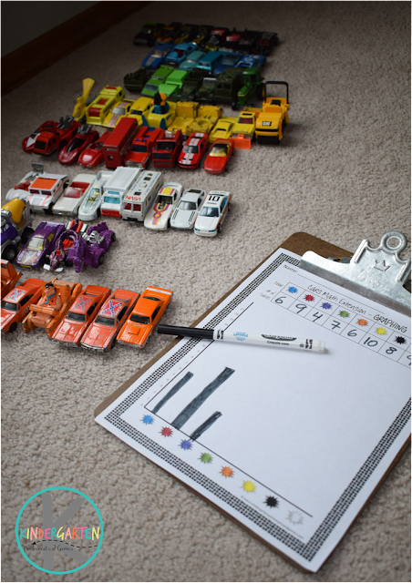learning colors with graphing math extension activity for preschool, prek, kindergarten