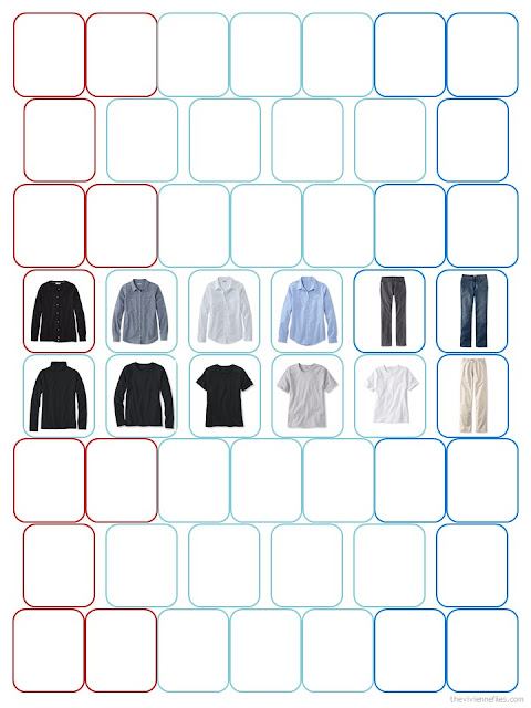 a 52-piece wardrobe template