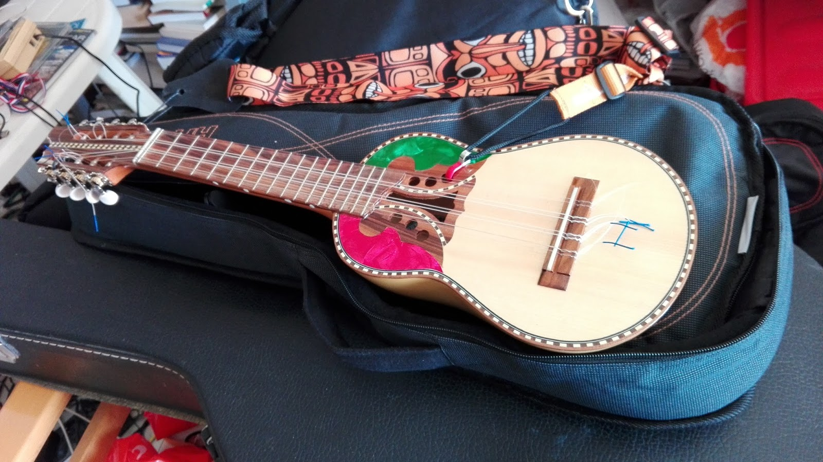 Musical Composition Improvisation With Abstract Visual Conceptual Psychological Perceptions 250 The Mando Lele Ukulele In Charango Body In The Pitch Of Mandolin Or Guitalele With Nylon Strings