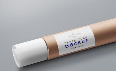 Paper Tube Mockup PSD