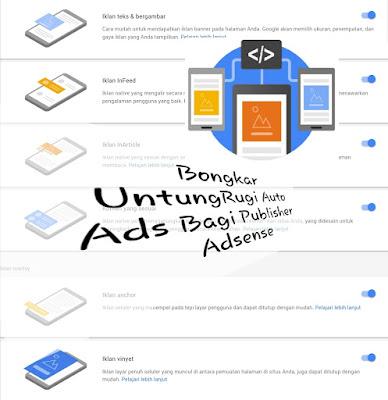 Untung Rugi Penggunaan Auto Ads Pada Blog