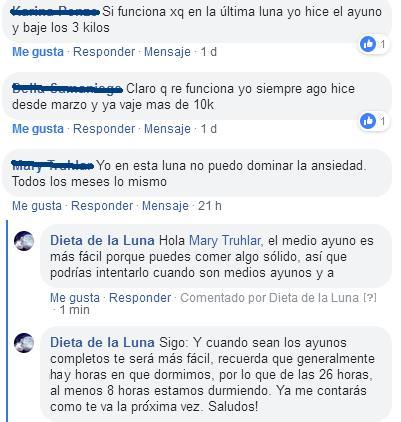 Dieta de la luna argentina