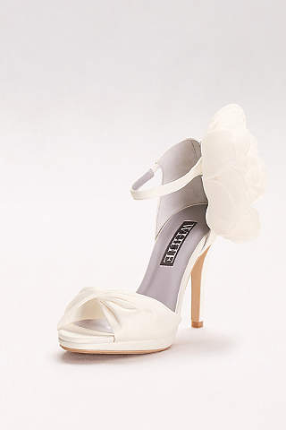 White Wedding Flats For Bride