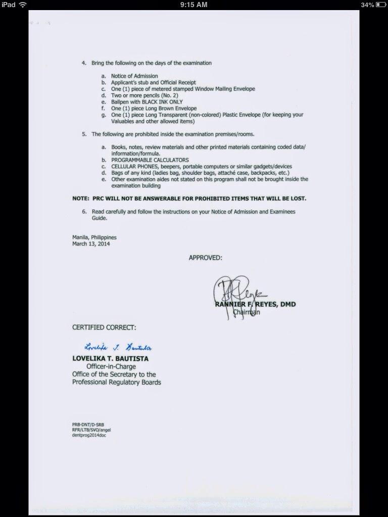 April 2014 ~ Dentist Board Exam Philippines