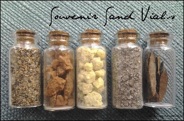 souvenir sand vials