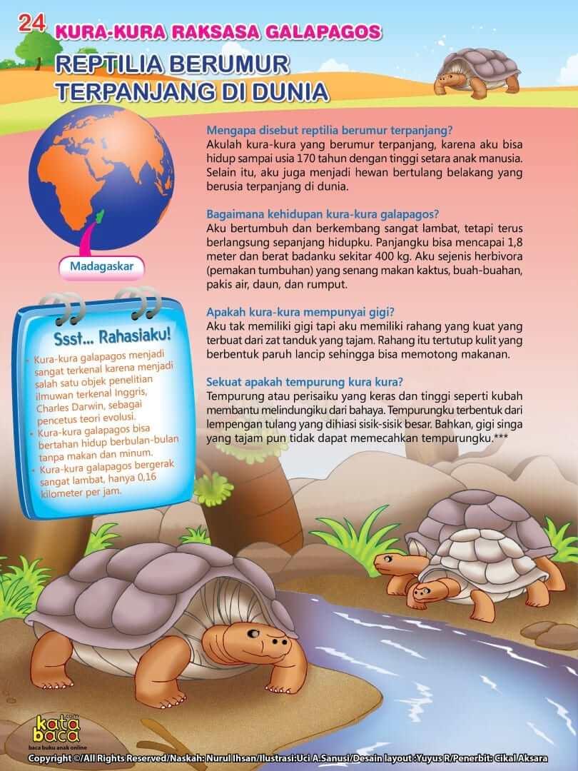 Kura-kura Raksasa Galapagos adalah Reptilia Berumur Terpanjang di Dunia