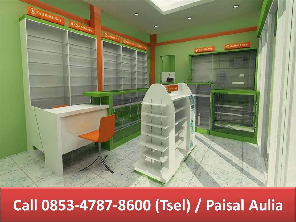 Pembuatan Furniture Apotek Banjarmasin Desain Interior