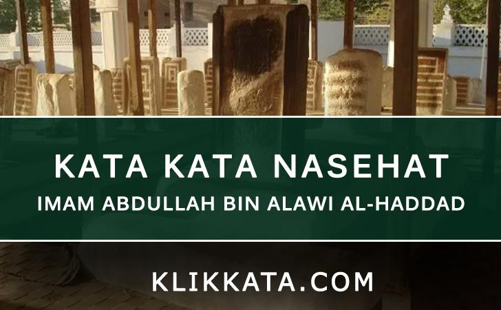 KATA KATA IMAM ABDULLAH BINALAWI AL-HADDAD
