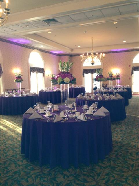 K'Mich Weddings - wedding planning - wedding at the manor country club - 2012 - purple - sliver - white wedding