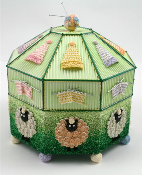 Quilled Knitting Box by Diane Boden Crane