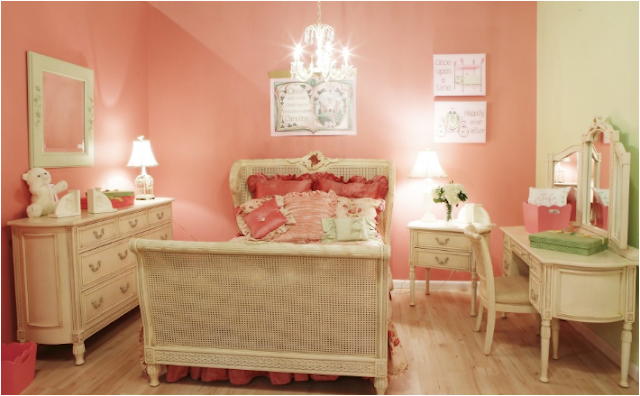 Girly Girl Vintage Style Bedrooms - Home Decorating Ideas