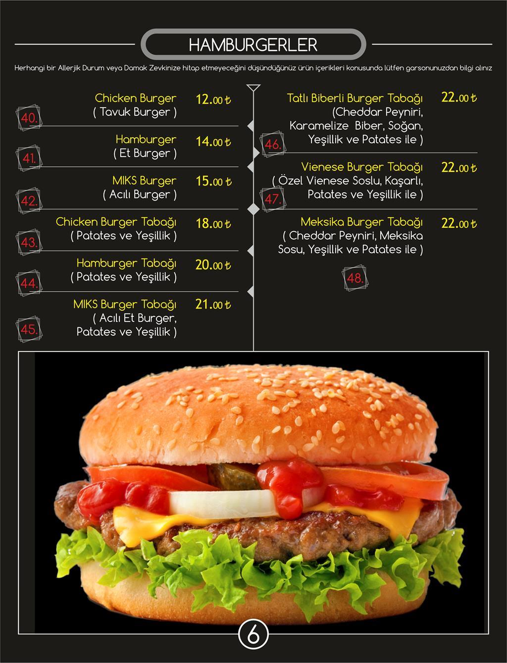 miks lounge menü fiyat listesi ve kampanyalar