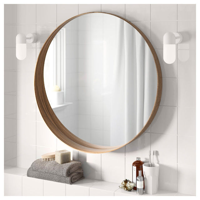 round mirror from IKEA