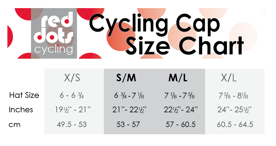 red dots cycling: Red Dots Cycling Cap: Size Matters!