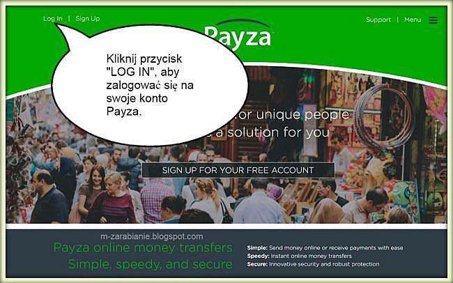 Jak zalogować się do procesora Payza?
