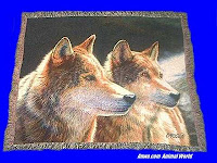 wolf blanket throw tapestry