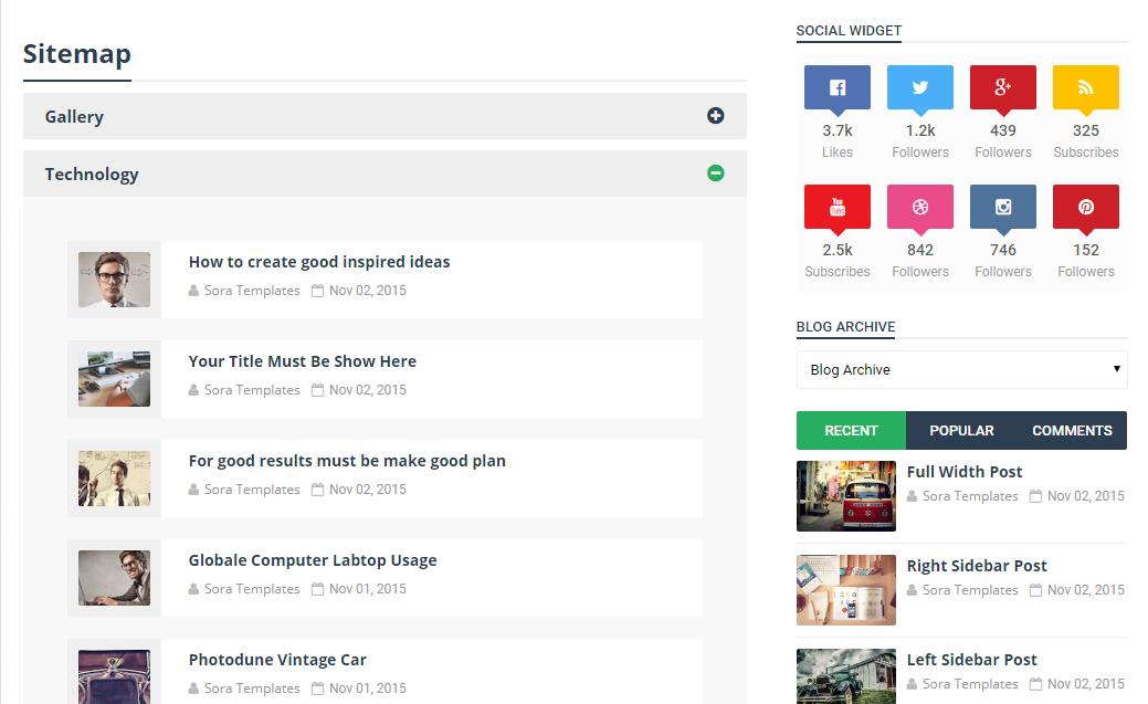 Làm thế nào để thêm Sitemap Widget cho Blogspot