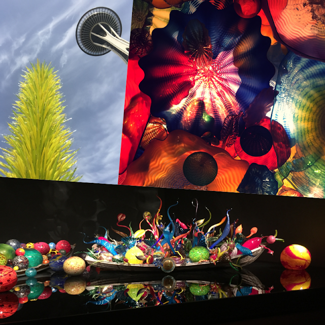 Chihuly Garden and Glass Display Collage
