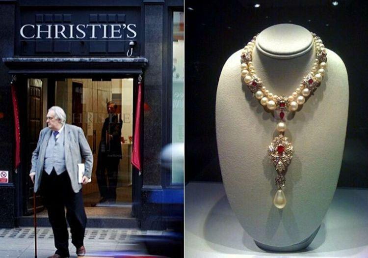 Christie's Müzayede Evi incinin son durağı oldu, birkaç içinde inci başka bir alıcıya satıldı.