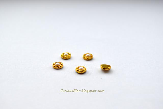 3d bornprettystore pearl charm gold embelishment