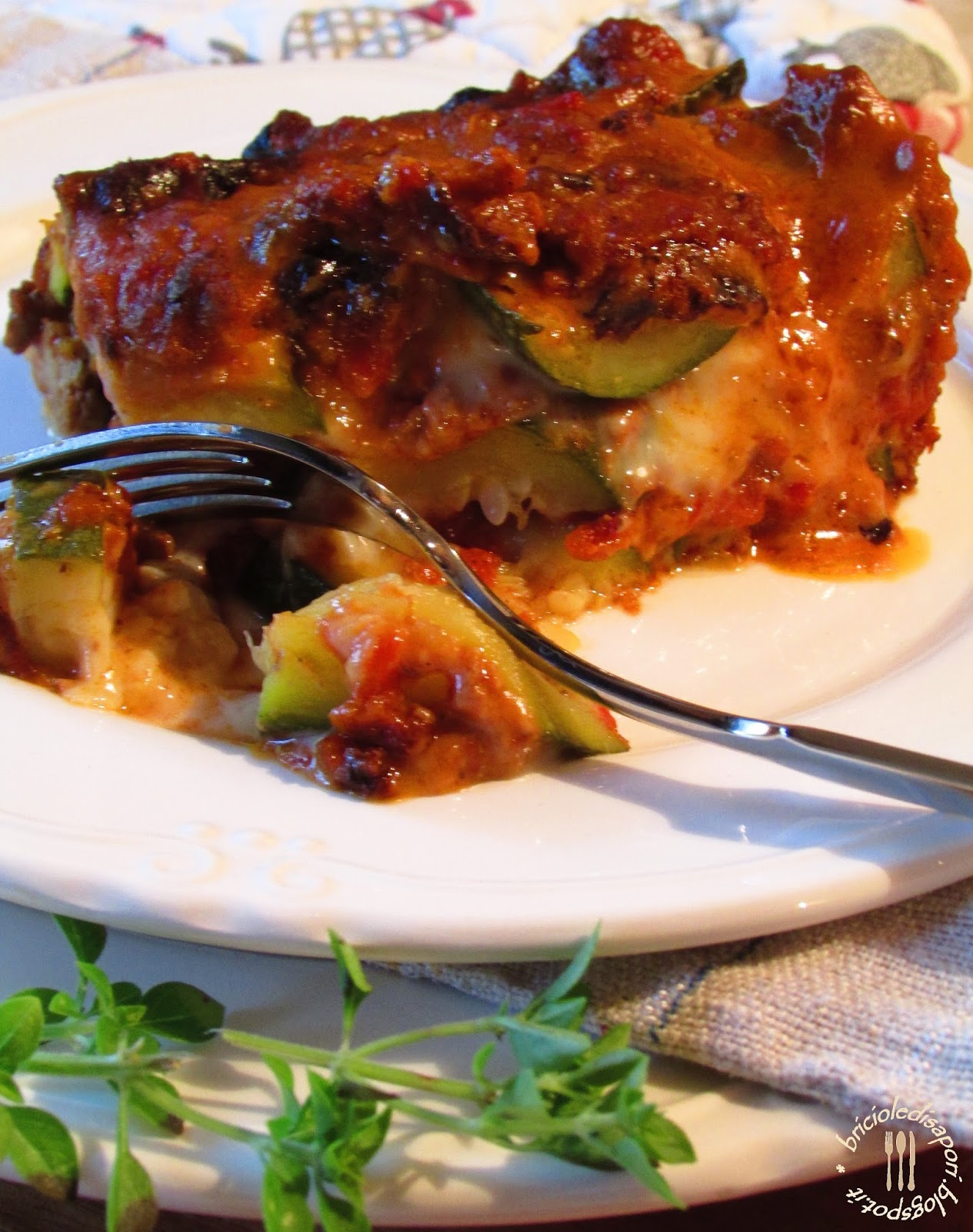 lasagne di zucchine e ragù speziato