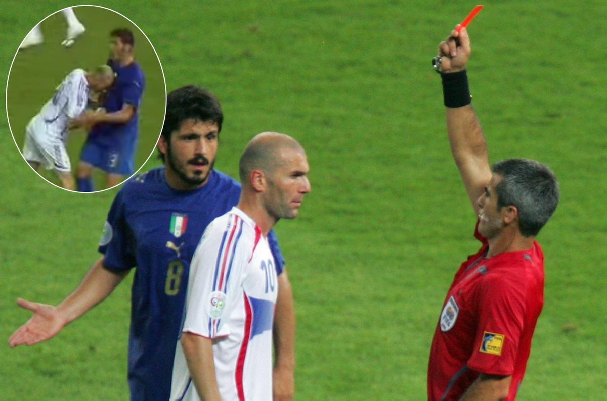 Terkuak! Ini Kronologi Zidane Diberi hukuman Kartu Merah Sehabis Menyundul Materazzi