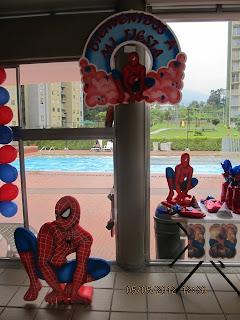 DECORACION HOMBRE ARAÑA - SPIDERMAN FIESTAS INFANTILES 2