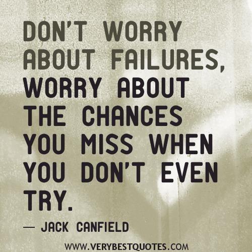 Motivasi | Jangan bimbangkan kegagalan