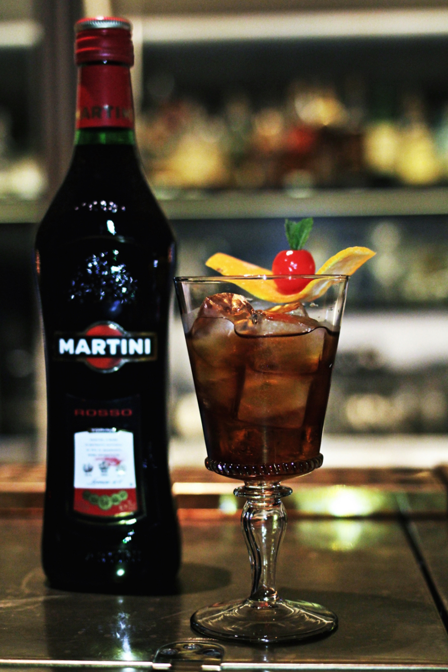 martini rosso apertif drink
