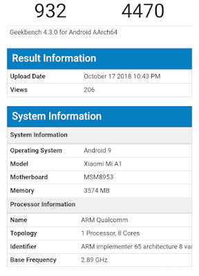 Mi A1 Get Android 9.0 Pie Update Very soon