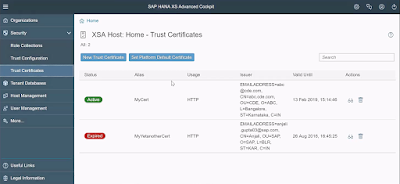 SAP HANA XS, SAP HANA Certifications, SAP HANA Guides, SAP HANA Learning, SAP HANA Cockpit