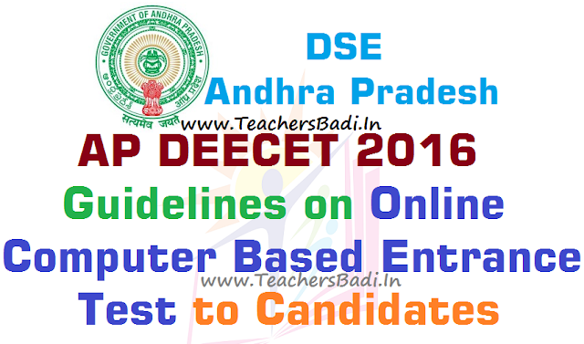 AP DEECET,guidelines,Online Computer Based Entrance Test