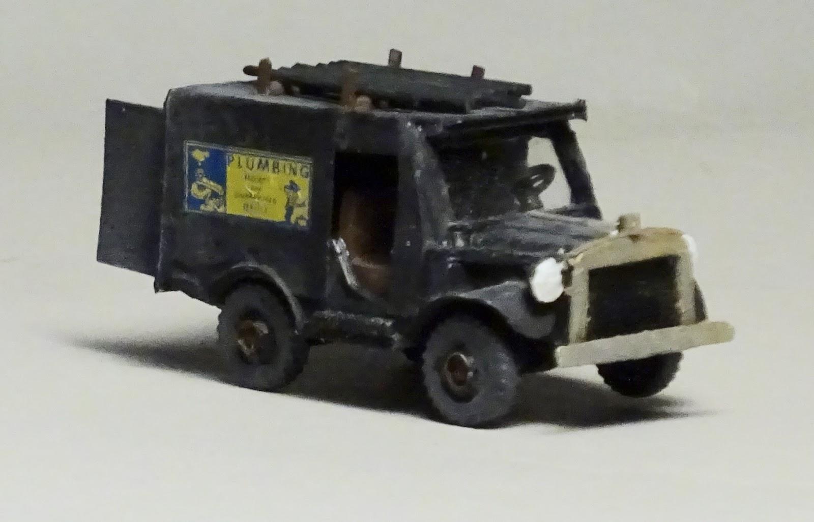 Model Railroad Minutiae: Vintage´plumbing truck model