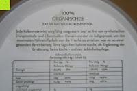 Nährstoffinformation: Kokosöl Anjou Naturbelassen Kaltgepresst und Nativ für Haare, Haut, Küche,Backen, Gesundheit, Pflege, USDA-Zertifikat, 946ml