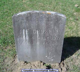 Gravemarker of Joseph Grozell died 1917