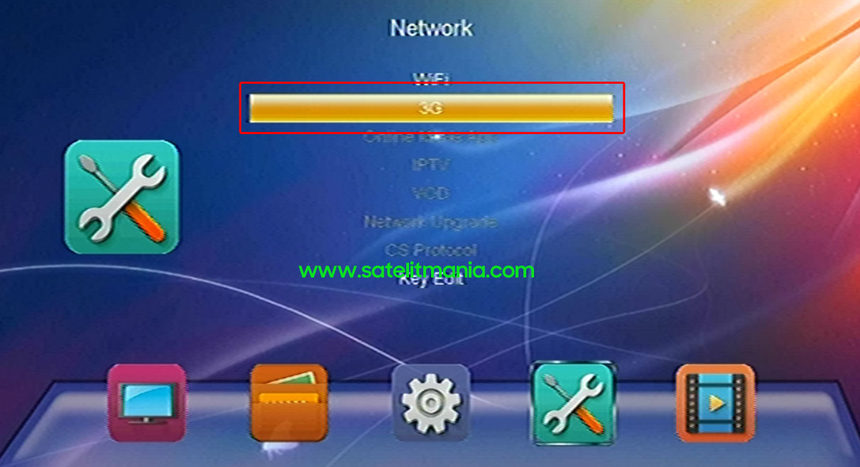 Pilihan Koneksi Internet Receiver Skybox A1 via Modem