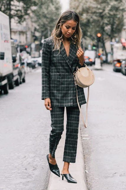 Womens Checkered Suit