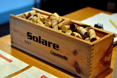 Box of Wine Corks at Capannelle in Gaiole in Chianti, Italy - Photo by Taste As You Go