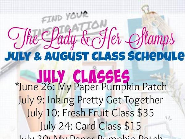 Upcoming Class List
