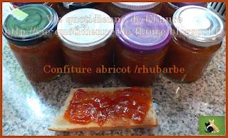Vie quotidienne de FLaure : Confiture abricot - rhubarbe au gingembre (cooking chef OU pas)