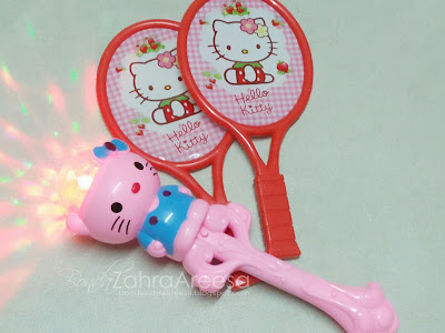 Lampu hello kitty, racket hello kitty, peminat hello kitty