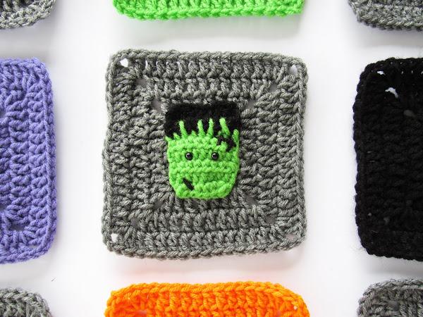 Halloween Frankenstein Granny Square Free Crochet Pattern