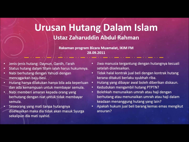 Hukum Tidak Membayar Hutang Menurut Islam -