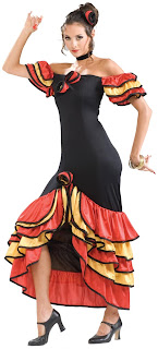 Women's Spanish Lady Adult Costume